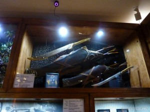 WETA Cave - Legolas weapons