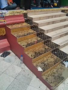 Yangon - Shwedagon pagoda intricate stairs