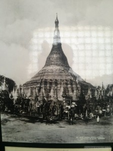Yangon - Shwedagon pagoda photo gallery old photo