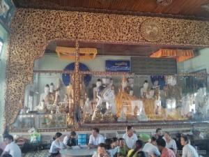 Yangon - Shwedagon pagoda reclining buddha