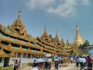 Yangon - Shwedagon pagoda southern entrance architecture