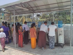 Yangon - Shwedagon pagoda water dispenser