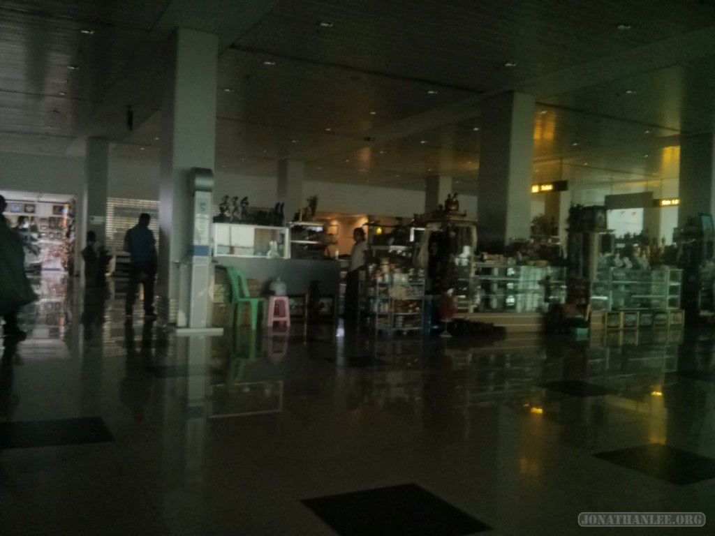 Yangon airport - power outage