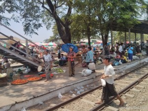 Yangon - circular train view 11