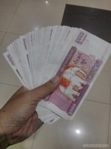 Yangon - fan of cash
