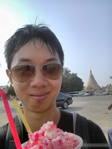 Yangon - ice on the street