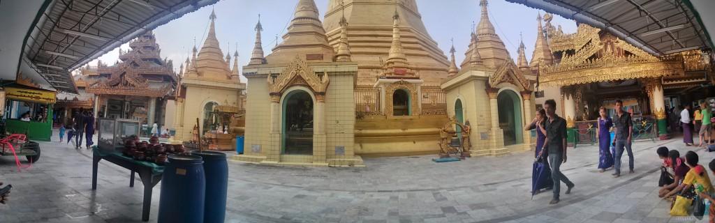 Yangon - panorama Shwedagon pagoda 3