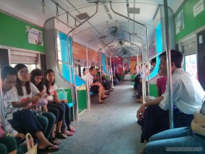 Yangon - railway station circular train