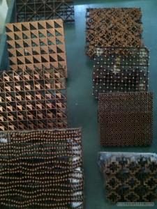 Yogyakarta arts culture - Batik printing blocks 2